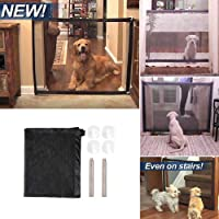 Placextre Portable Magic-Gate Folding Safety Guard Mesh Magic Net for Pets Dogs Cats