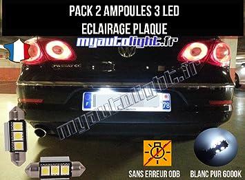 Pack Bombillas LED iluminación placa para Volkswagen Passat CC