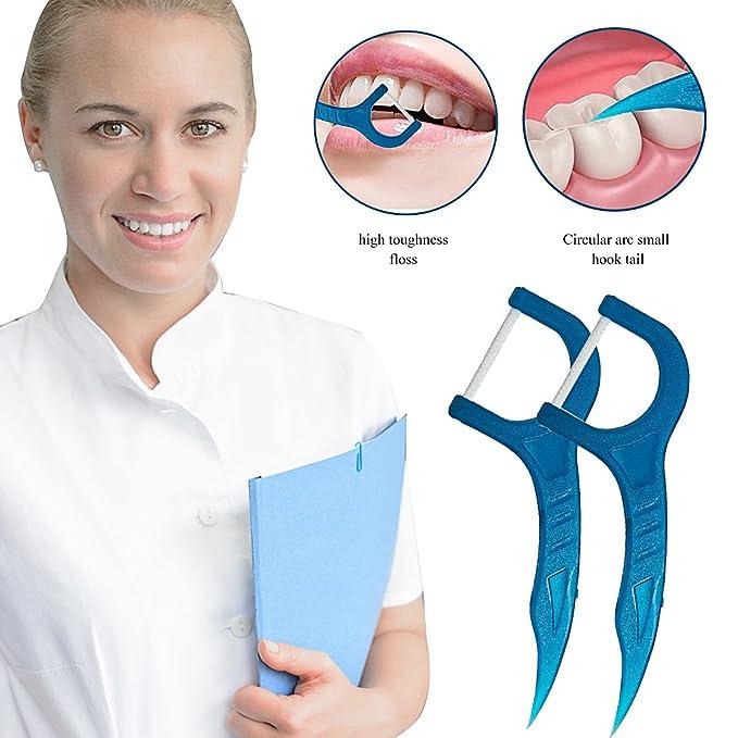 Hilo Dental, Seda de dientes, 200 unidades color blanco hilo Dental Floss, Cuidado de dientes Interdental flossers, Disposable Fresh hilo dental Floss, ...