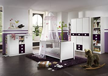 Dreams4home Babyzimmer Bianca I Komplettzimmer Babybett