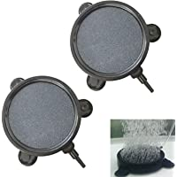 Gugou 4 Inch Air Stone Disc Bubble Diffuser with Suction Cups for Hydroponics Aquarium Fish Tank Pump 2 Packs