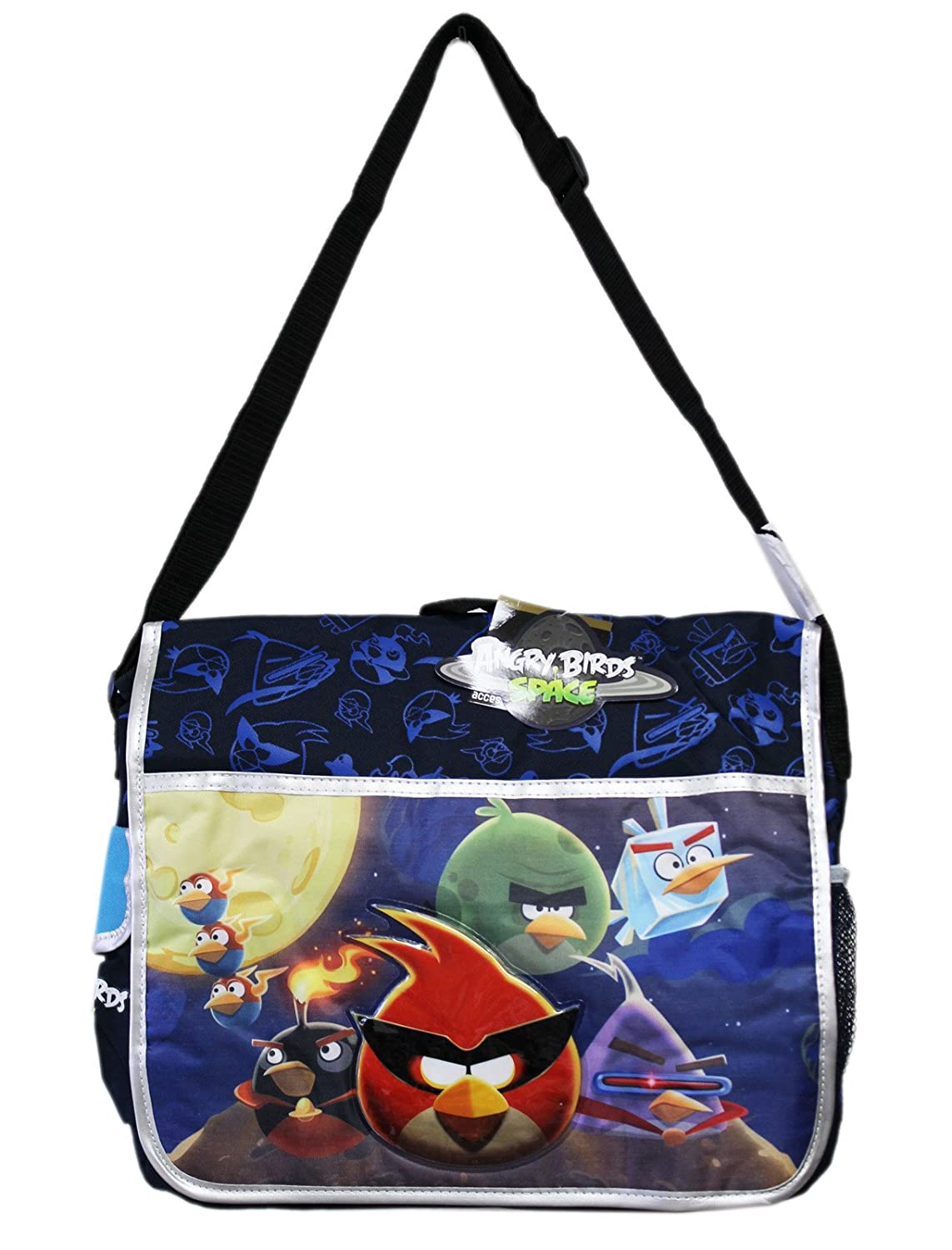Angry Birds in Space Full Lineup Blue Colored Full Size Kids Messenger Bag