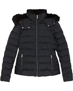 3643b01696f Zara Women's Hooded Down Puffer Jacket 8073/223 Black: Amazon.co.uk ...