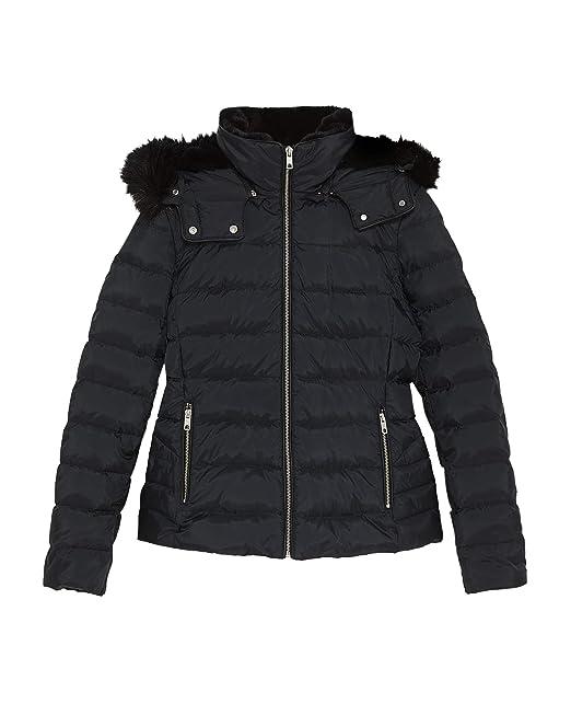 comprare popolare a23f6 8f444 Zara Donna Giubbotto Piumino con Cappuccio 8073/223: Amazon ...