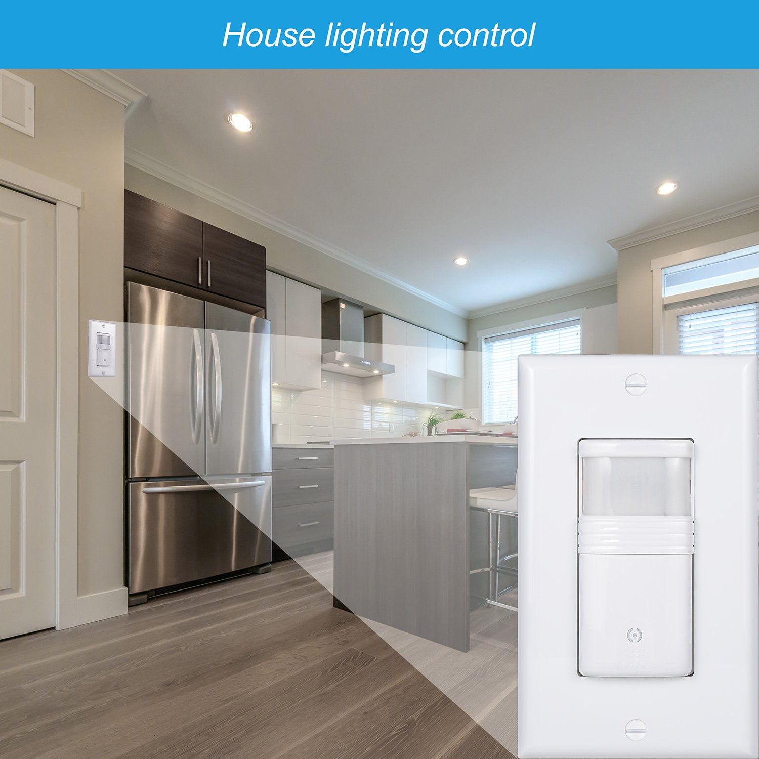 Not 3-Way Adjustable Timer Dependable Direct Vacancy /& Occupancy Modes NEUTRAL Wire Required Title 24 Pack of 10 White Motion Sensor Light Switch UL Certified For Indoor Use Single Pole Only