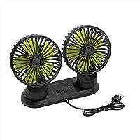 Ymenow 5V Dual-Head Auto Fan, Draagbare Voertuigventilator, Voertuig gemonteerde USB-ventilator Elektrische Ventilator…