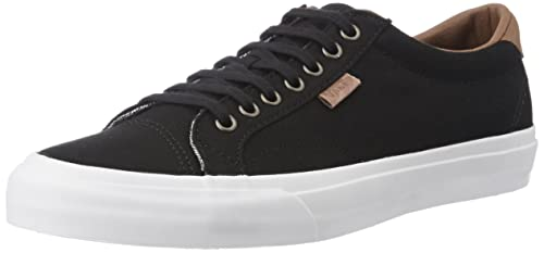 6d0befbef6 Vans Unisex s Court (C L) Black and True White Sneakers - 8 UK India