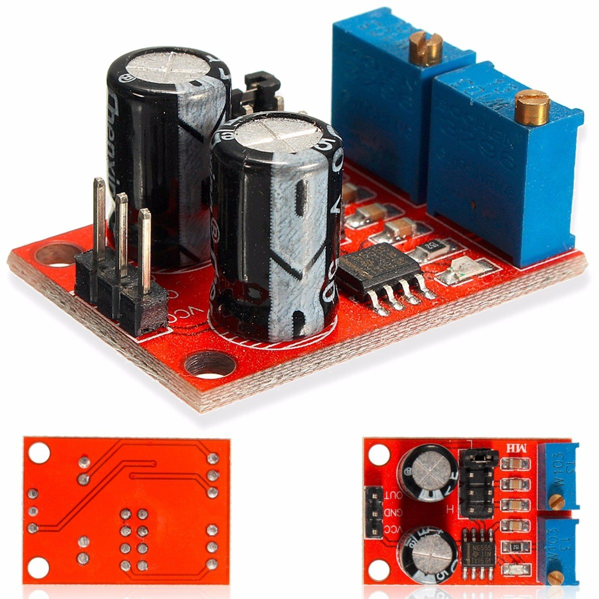 Wingoneer Ne555 5v 15v Dc Frequency Duty Cycle Adjustable Module Pulse Generator Circuit 555 Triangle Waveform Simple Square Wave Signal Industrial Scientific
