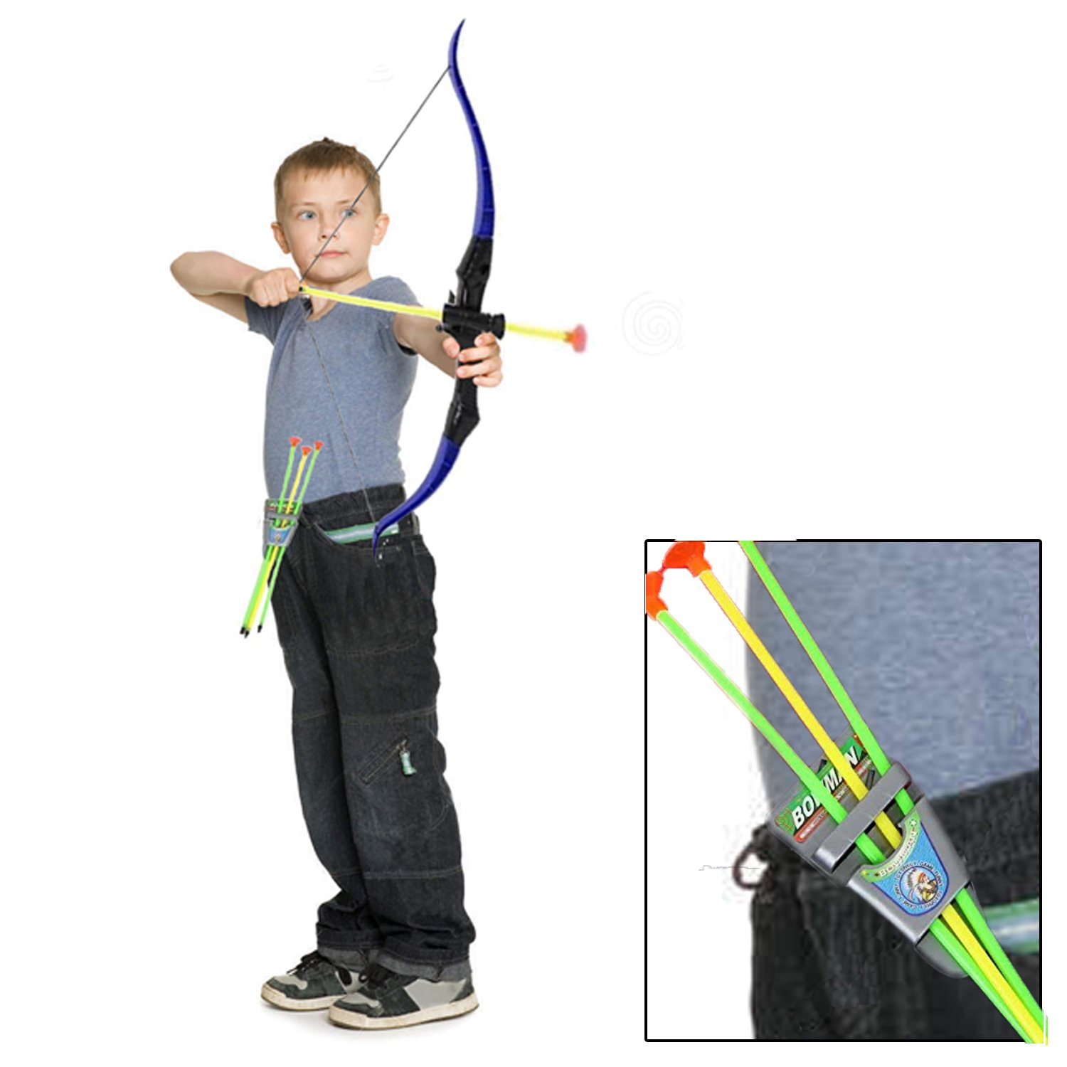 amazon com toy bow and arrow play set for camping children u0027s