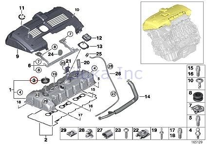 amazon com bmw genuine cylinder gasket for valvetronic system BMW E90 MAF Diagram amazon com bmw genuine cylinder gasket for valvetronic system eccentric shaft sensor 528i 528xi x5 3 0si 128i x3 3 0i x3 3 0si z4 3 0i z4 3 0si z4 3 0si