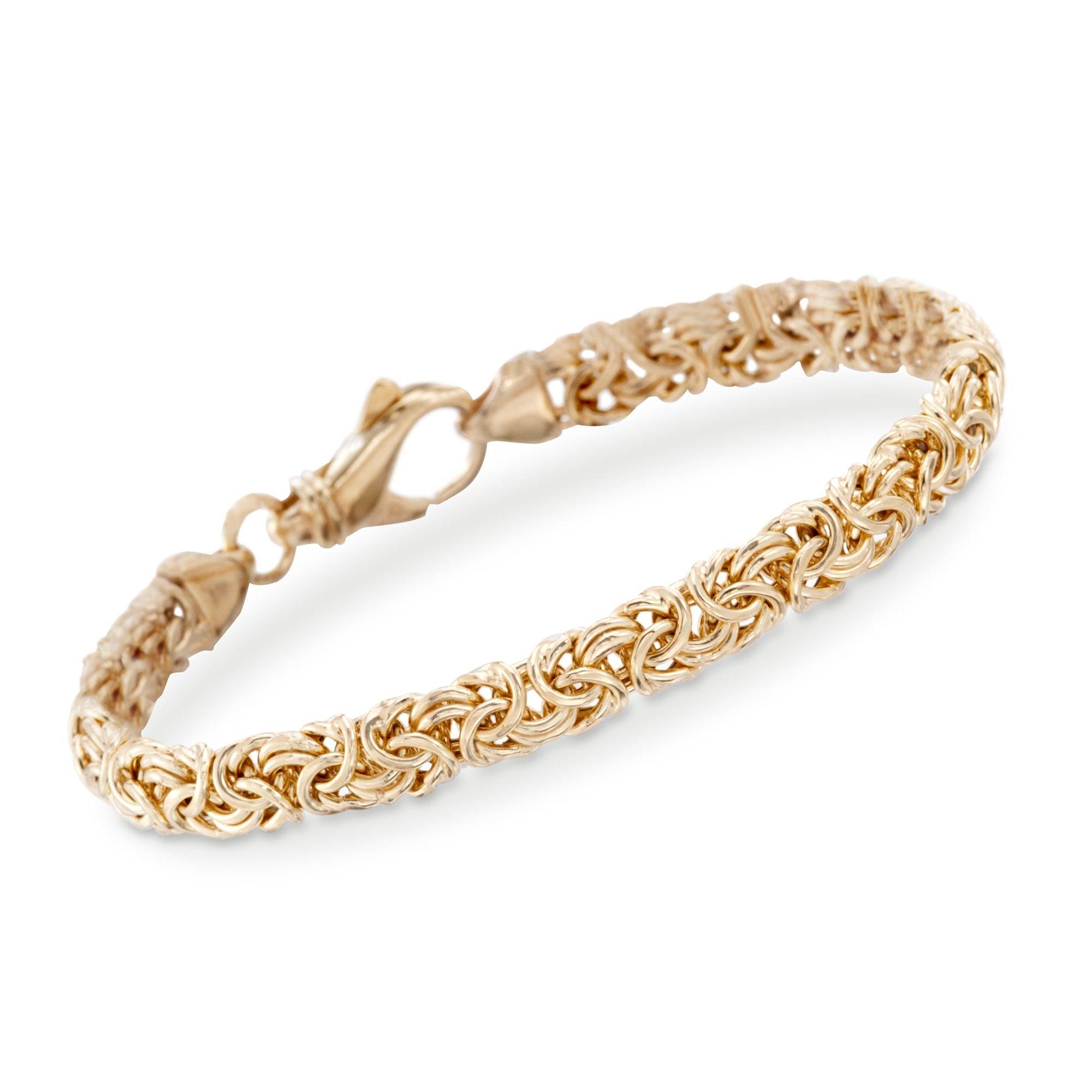 Ross-Simons 18kt Gold Over Sterling Silver Small Byzantine Bracelet by Ross-Simons