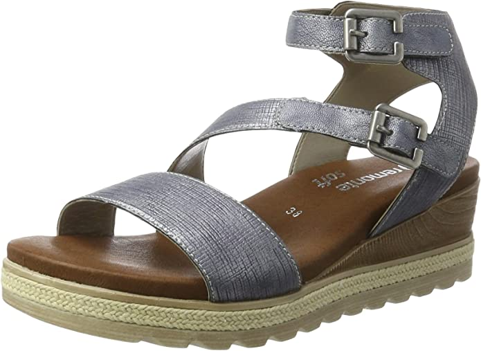 Remonte Double Buckle Low Wedge D6356