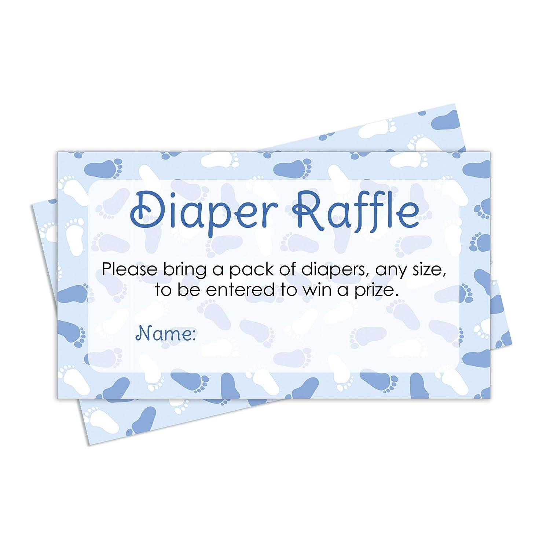 Amazon Diaper Raffle Tickets Boy Baby Shower Invitation