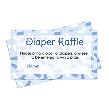 Diaper Raffle Tickets   Boy Baby Shower Invitation Insert Cards (25 Count)
