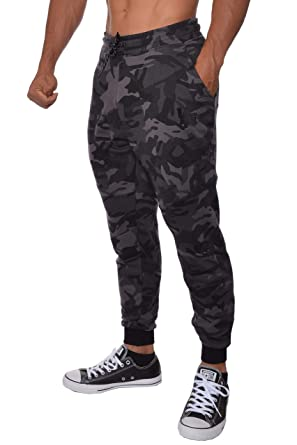 9cd2ae84d9a7 YoungLA French Terry Cotton Sweatpants Jogger Pants Camouflage Black Small