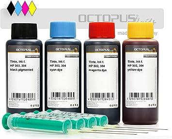 4x 100ml de tinta de impresora compatible para cartuchos de tinta ...
