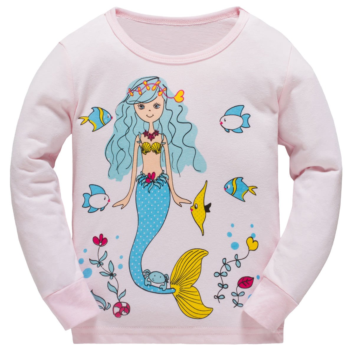 Schmoopy Girls Pajamas Set with Mermaid for Kids and Toddler Girls 3T