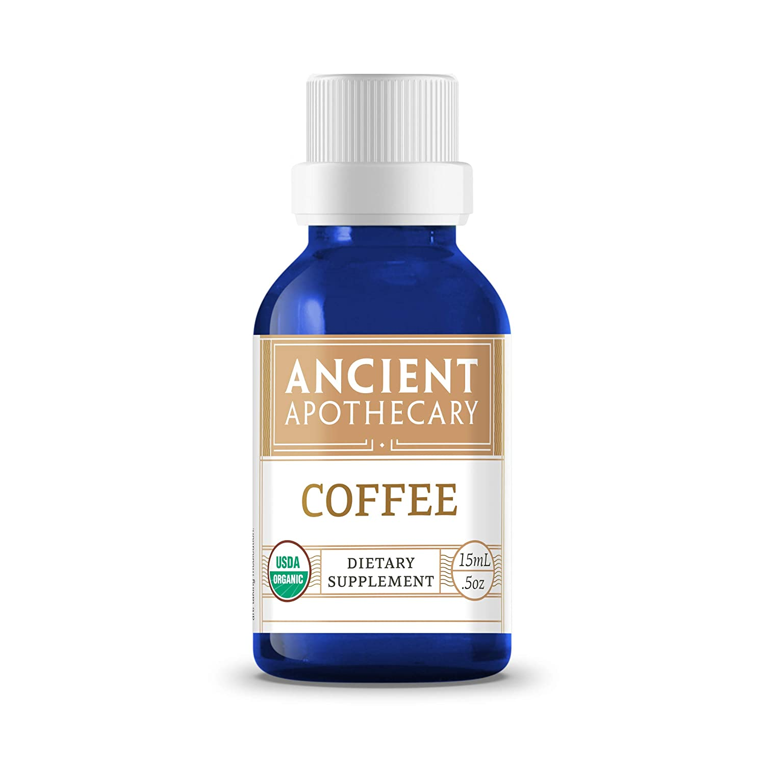 Coffee Organic Essential Oil from Ancient Apothecary, 15 mL - 100% Pure and Therapeutic Grade