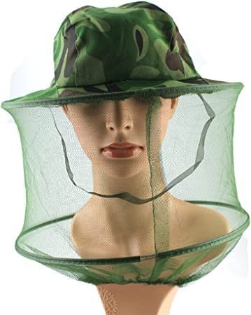 Insect Prevention Head Hat Mesh Camo Insect Net Face Practical Mosquito Net