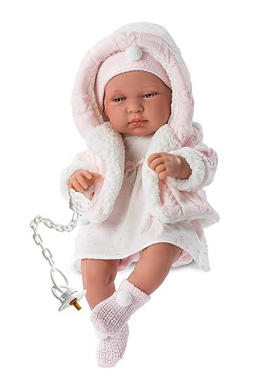 Llorens 84312 Newborn Tina Dress Puppe 43 Cm Amazonde Spielzeug