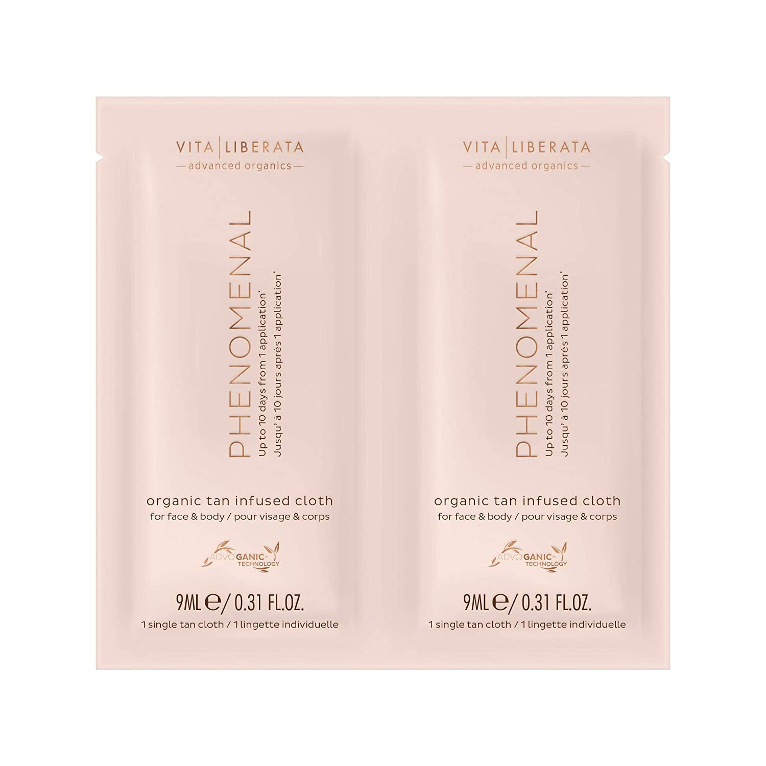 Vita Liberata Phenomenal Organic Tan Infused Cloths 8 Pack, 67 g.