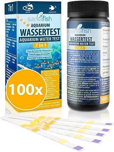 sanafish Wassertest Aquarium 7-in-1 mit 100 Teststreifen