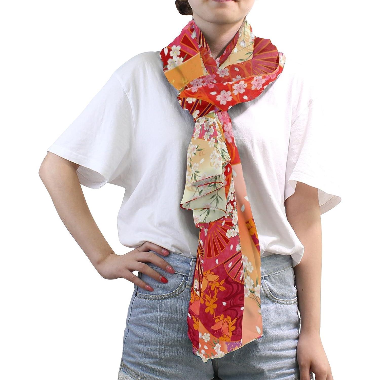 MRMIAN Japanese Style 88 Long Lightweight Silk Chiffon Scarf Wrap Stole