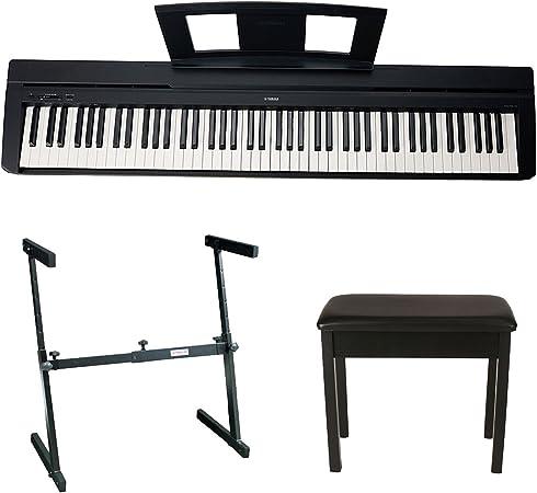 Piano digital Yamaha P45B 88 teclas con soporte para teclado estilo Knox Z y banco de piano