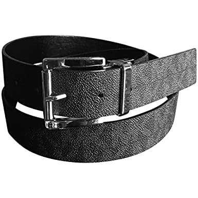 b51450484 Image Unavailable. Image not available for. Color: Michael Kors Womens Mk  Reversible Belt Logo Black Silver Buckle XL