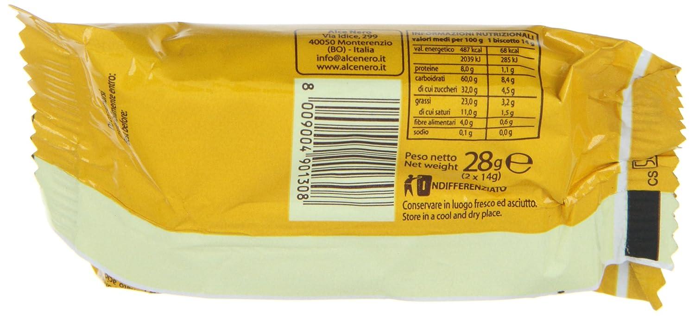 Galletas de espelta cubiertas de chocolate oscuro monodosis - Alce Nero - caja de 24 uds de 28 gr. (Total 672 gr.): Amazon.es: Alimentación y bebidas