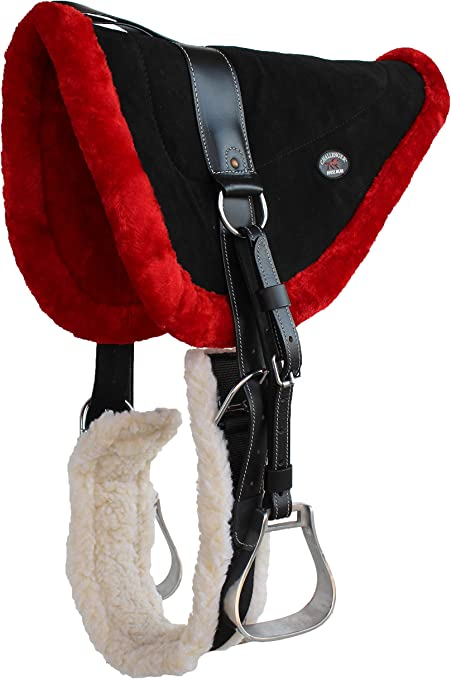 CHALLENGER Horse Saddle PAD Western Bareback Suede Leather Girth Stirrups 39171-174