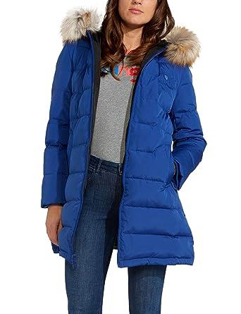 86d1a782f Wrangler Women's Long Puffer Jacket Blue in Size Medium: Amazon.co ...