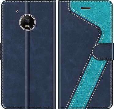 MOBESV Funda para Motorola Moto G5, Funda Libro Motorola Moto G5, Funda Móvil Motorola Moto G5 Magnético Carcasa para Motorola Moto G5 Funda con Tapa, Azul: Amazon.es: Electrónica