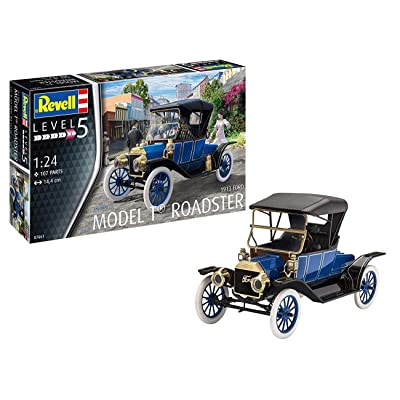 Revell 07661 1:24 Ford T Roadster (1913) Plastic Model Kit: Toys & Games