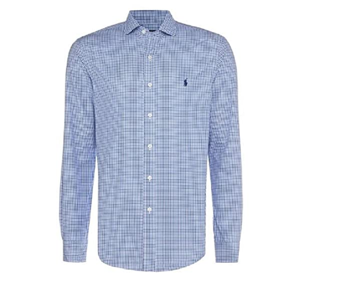Polo Ralph Lauren C0223 D44AC Camisas Hombre Azul/Blanco 16 ...