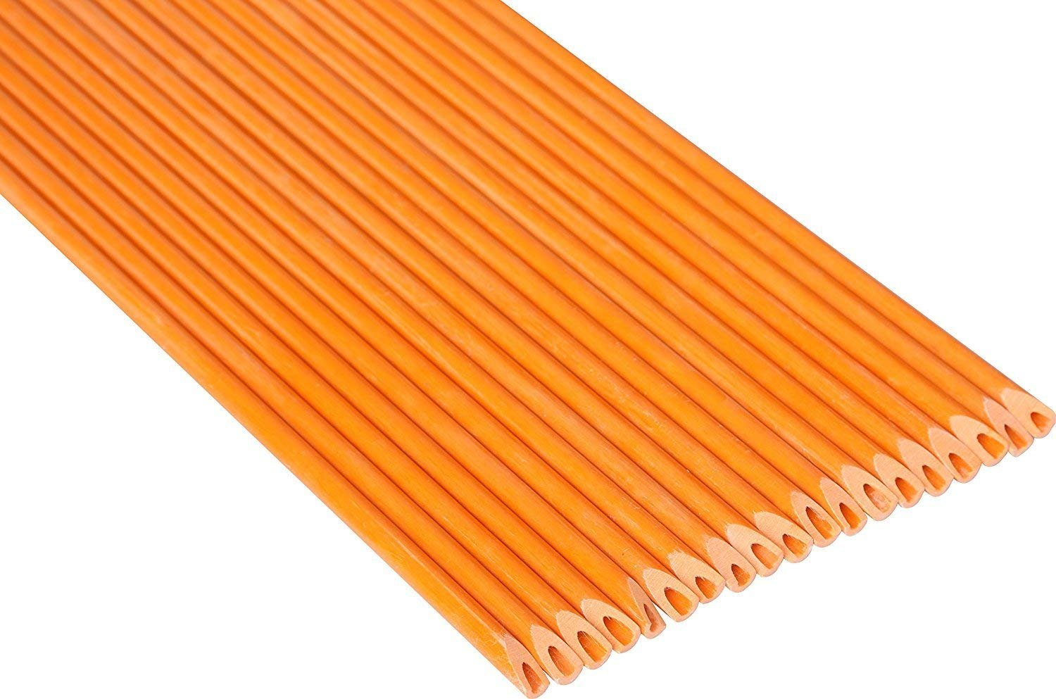 FiberMarker 72Inch Reflective Driveway Markers Driveway Poles Easy Visibility at Night 1//4Inch Diameter Orange,20pack