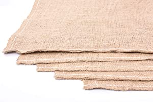 "Garden/Patio Burlap Bags (Jute), 10 oz. (Food Grade & Sack Race) Size 40"" X 24"" (5 Pack)"