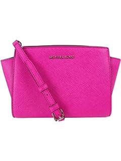 MICHAEL Michael Kors Womens Selma Medium Messenger Bag, Fuchsia, One Size