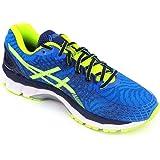 ASICS Men's Gel Nimbus 17 Electric Blue, Flash Yellow and Indigo Blue Mesh Running Shoes - 6 UK