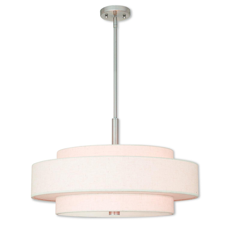Livex Lighting 52138-91 Meridian 5 Light Brushed Nickel Pendant,