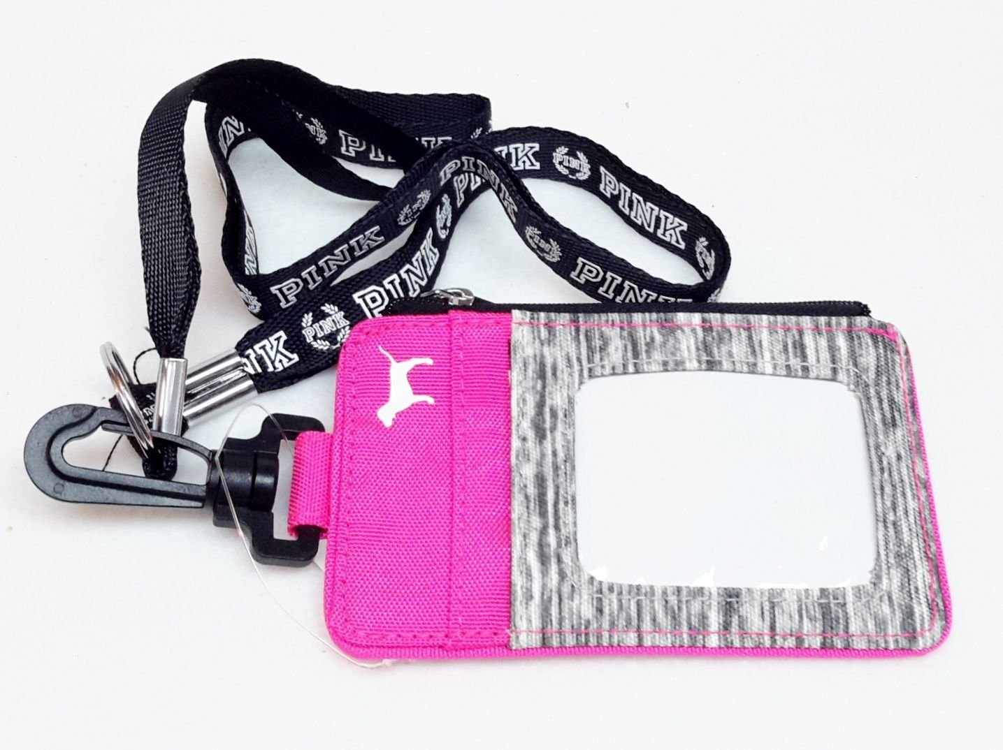 Victoria's Secret Lanyard ID Holder Zipped Wallet case Pink