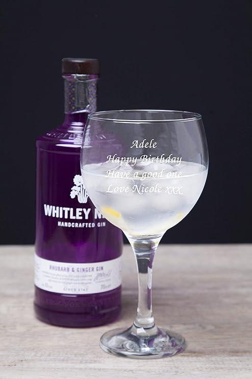 Globo de cristal personalizable con cualquier mensaje de Gin ...