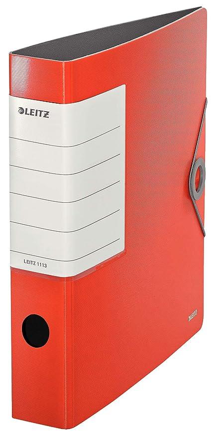 Leitz 11130020 Raccoglitore con Meccanismo a Leva Rosso