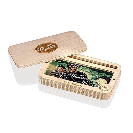 Rolls69 Bandeja enrollable con cierre magnético, caja de almacenamiento, accesorios para malas hierbas