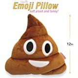 Emoji Cute Pillow Poop Face - Cartoon Brown Stuffed Soft Plush Very Comfortable and Funny - Perfect Fun Item for all…