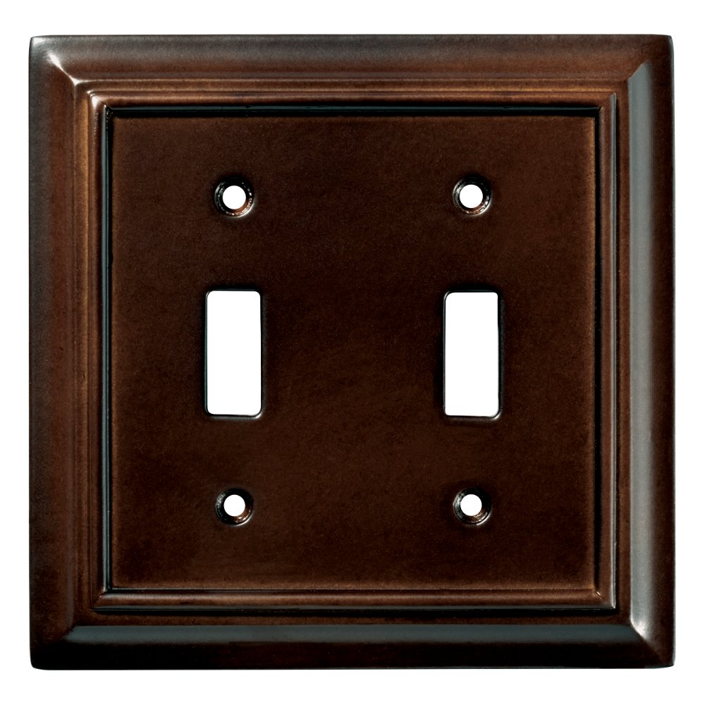 Brainerd 126343 Wood Architectural Double Toggle Switch Wall Plate / Switch Plate / Cover, Espresso by Brainerd (Image #2)