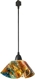product image for Jezebel Signature Lily Track Lighting Pendant Large. Hardware: Brown. Glass: Daylily