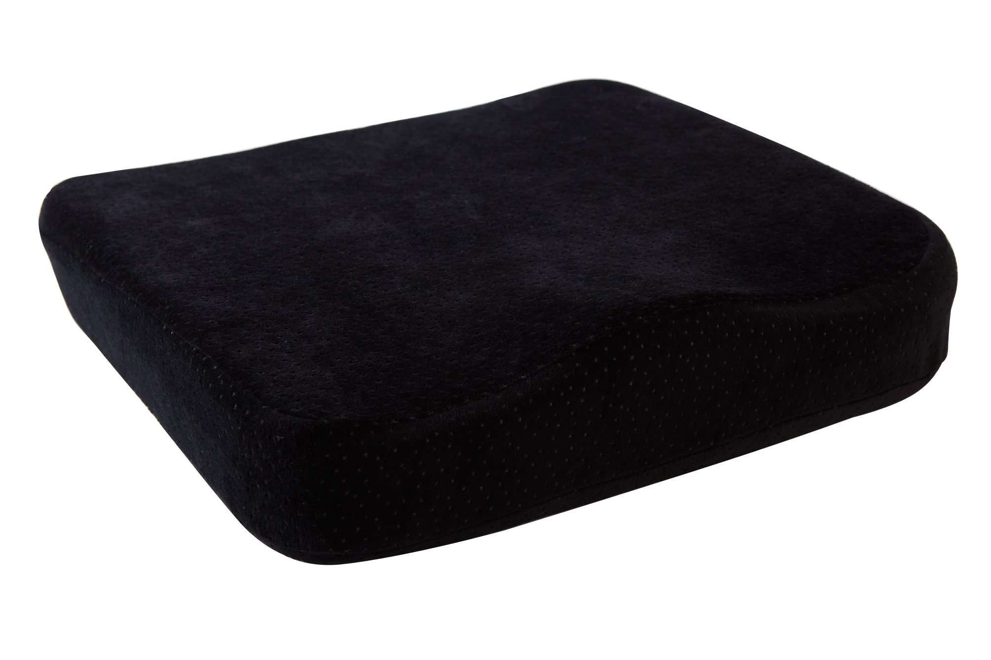 AERIS Memory Foam Seat Cushion Premium Large Office Chair Pad with a Buckle to Prevent Sliding-Car Machine Washable Black Plush Velour Cover by AERIS (Image #3)