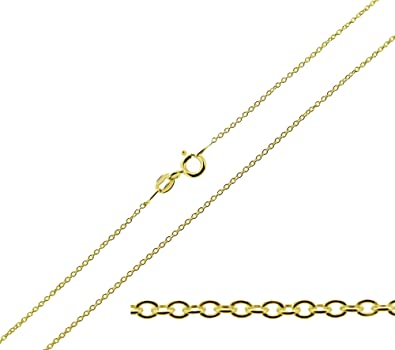9ct Gold Plated on 925 Sterling Silver Chai Pendant With Optional 1mm Wide Trace Chain In Gift Box (available in 16