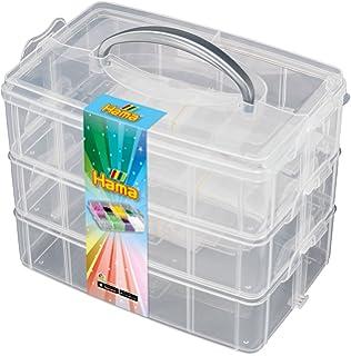 Basteln & Kreativität Hama Midi Bügelperlen große Aufbewahrungsbox 6751 Steckperlen Perlen Sortierbox